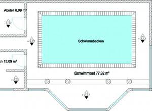 schwimmbad wohnung vermessen. Black Bedroom Furniture Sets. Home Design Ideas